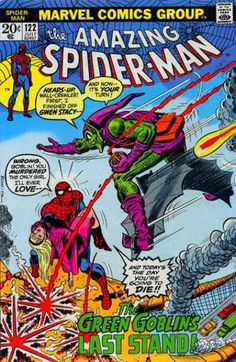 Amazing Spider-man#122-Gwen Stacy dies-a sad day in the comic universe!