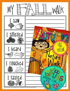 ~FREE PRINTABLE~ Grab your magnifying glasses and head outside on a leaf crunching Autumn Nature Walk! This is a fun outside activity allowing your children to soak up the simple pleasures of nature... (Available in both Autumn and Fall worded versions):