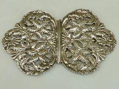 Antique 1896 Hallmarked Silver Nurses Belt Buckle