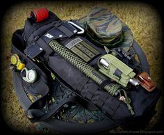 Bug out bag with tomahawk