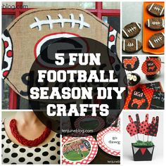 Five fun football season DIY crafts #UGA #football #SEC #crafts #doityourself #tailgate #redandblack