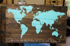 World Map Pallet art