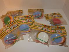 48 Vintage Plastic Umbrella Parasols Candy Containers Party Favors Place Cards in Home & Garden, Greeting Cards & Party Supply, Party Supplies   eBay