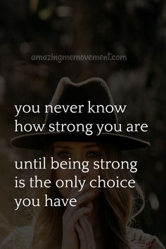 You are stronger than you think. Don't give up and think you don't have the strength to deal with this. Hope Quotes Never Give Up, Don't Give Up Quotes, Best Advice Quotes, Inspirational Quotes For Girls, Life Quotes To Live By, Motivational Quotes For Life, Self Love Quotes, Inspiring Quotes About Life, Faith Quotes