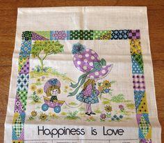Holly Hobbie Towel Vintage 1976 Calendar  Printed by AStringorTwo