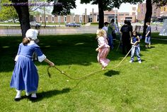 old fashioned jump rope  | Stock Photo titled: Children Play Jump Rope Circa 1700 Reenactment Of ...