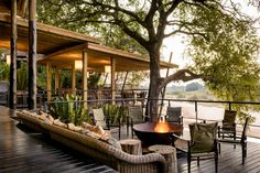 Singita Sabi Sand, Sabi Sand Game Reserve, South Africa Travel and Leisure World's Best Hotels 2016 Outdoor Spaces, Outdoor Living, Outdoor Fire, Gazebos, Game Lodge, Luxury Accommodation, Travel And Leisure, Best Hotels, Amazing Hotels