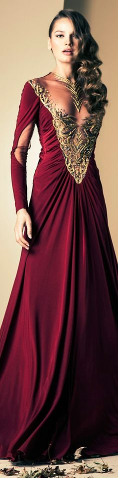 Ziad Nakad Couture | Fall/Winter 2014 gown dress red