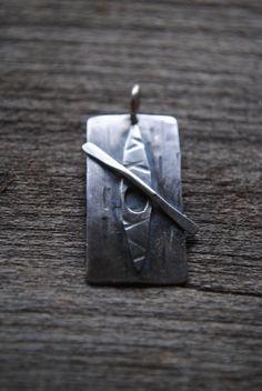 Sterling Silver Kayak Pendant