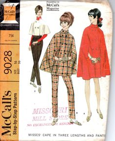 Retro 60s McCall's Sewing Pattern 9028 by AdeleBeeAnnPatterns