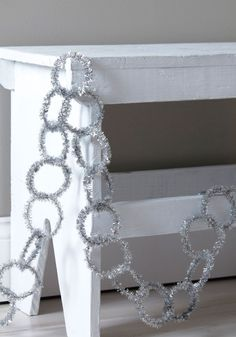 Pure and Tinsel Garland DIY (could make it with pipecleaners!)
