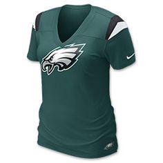 Nike NFL Philadelphia Eagles Women's V-Neck Tee Shirt