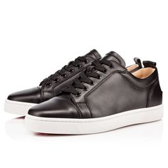 285333a954c7 CHRISTIAN LOUBOUTIN Louis Junior Flat Calf Noir  Argent Calf - Men Shoes -  Christian Louboutin