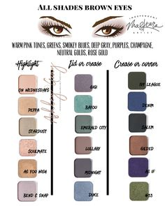 Maskcara Beauty Best Eyeshadow colors for Brown eye makeup tutorials you want to try for office Ways To Make Brown Eyes Pop - result for . Maskcara Makeup, Maskcara Beauty, Skin Makeup, Eyeshadow Makeup, Eyeshadow Guide, Eyeshadows, Best Eyeshadow For Brown Eyes, Makeup Tips For Brown Eyes, Hair Color For Brown Eyes