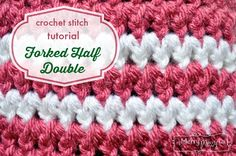 Crochet Stitch Photo Tutorial - Forked Half Double Crochet - an easy stitch that even a beginner can do!