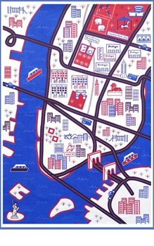 Organic playmat of New York - loved the road playmats when I was young, and having one of the city you live in is even better. A craft project one day
