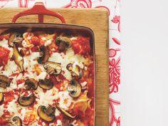 Meatball-Mushroom Lasagna