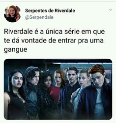 Sou uma Serpente!😍🐍 Riverdale Memes, Riverdale Cast, Supergirl, Archie Betty And Veronica, Riverdale Aesthetic, Dylan Sprouse, Cheryl Blossom, Good Doctor, Best Tv Shows