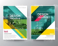 Green diagonal line Brochure annual report cover Flyer Poster design illustracion libre de derechos libre de derechos