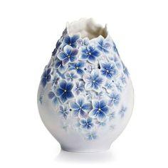 Floral Bouquet Collection porcelain large vase by Franz Porcelain Glass Ceramic, Ceramic Pottery, Ceramic Art, Advanced Ceramics, Keramik Vase, Clay Vase, Fine Porcelain, Porcelain Vase, Porcelain Jewelry