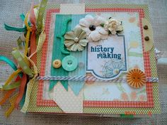 Premade Paper Bag Scrapbook Album Our History in The Making TPHH Phyllis | eBay