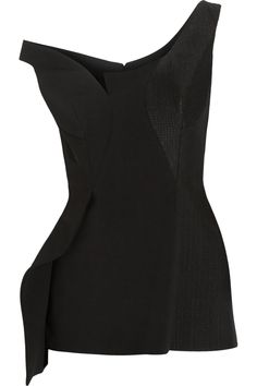 Stella McCartney | Dixie asymmetric sequined stretch-wool and silk top | NET-A-PORTER.COM