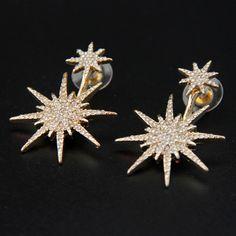 c21ae3992 Ear Jacket, Shape Patterns, Rhinestone Earrings, Types Of Metal, Jacket  Earrings,