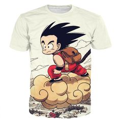 Cute Kid Goku Fly Prints Men Women T-shirts //Price: $21.99 & FREE Shipping //   #dragonballz #anime