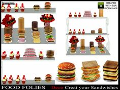 jomsims' Food folies ( deco Create your sandwishes).