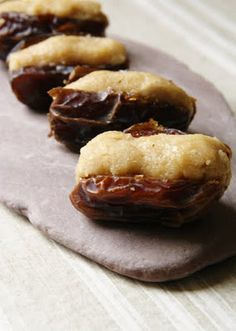 Stuffed Dates with nut butter, tahini, rose or orange water and honey