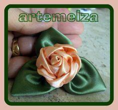 ARTEMELZA -  Arte e Artesanato: Rosa de cetim