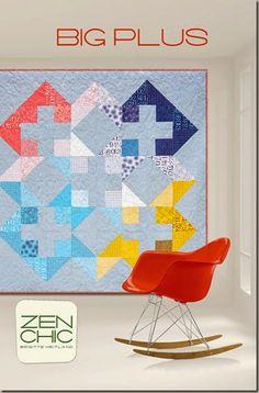 Big Plus modern quilt pattern Zen Chic, www.brigitteheitland.de