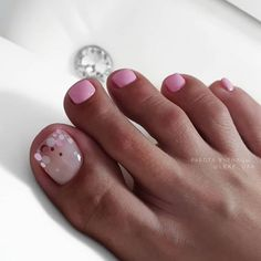 50 amazing toe nail colors to choose in 2019 022 - Nails Toe Nail Color, Toe Nail Art, Nail Polish Colors, Pedicure Colors, Manicure E Pedicure, Pedicure Ideas, Pink Pedicure, Pedicure Designs, Nail Ideas