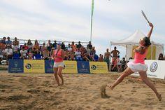 Gran Canaria Beach Tennis Open 2015 held on Las Canteras beach.