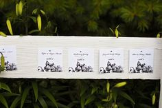 table assignments posted on fence
