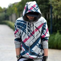 XXXXXL printing hip hop hoodies for men zip design