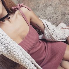 Delancey Tank Dress and Mulberry Handknit Cardi