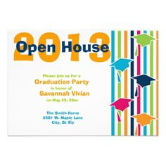 2013 Graduation Party Open House Invitations  #SOLD on #Zazzle