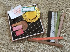 Scrapbooking Set Album Goodies Papier Pappe Basteln Scrapbook