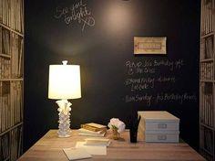 Vernice lavagna in uno studio