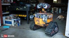 A man in Bakersfield, California has created, from scratch, a life sized Wall-E robot. No word yet on when we'll see Eve. Wall E, Bakersfield California, Make A Robot, How To Make Everything, Working Wall, E Mc2, Pixar Movies, Science, Do It Yourself Projects