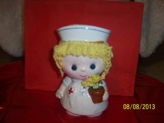 Figurine Hospital Nurse Porcelain Vintage by NAESBARGINBASEMENT, $20.00