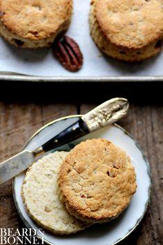 Pecan Sour Cream Biscuits {Beard and Bonnet} #glutenfree