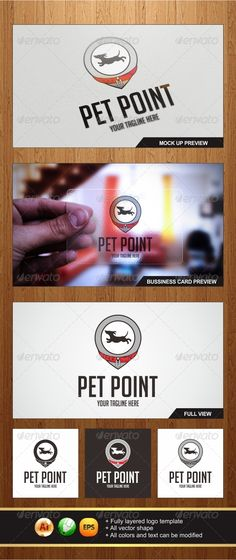 Pet Point Logo #GraphicRiver An Amazing Multipurpose Pet Point logo template highly suitable for Clinic, Petshop, Pet stuff or any other business related. -