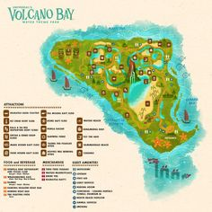 Start planning your next trip to Universal Orlando Resort by checking out the map to our brand new water theme park. At Universal's Volcano Bay you can live the Waturi way where thrills and relaxation flow in perfect harmony. Orlando Travel, Orlando Vacation, Orlando Resorts, Florida Vacation, Florida Travel, Orlando Florida, Vacation Spots, Destin Florida, Central Florida