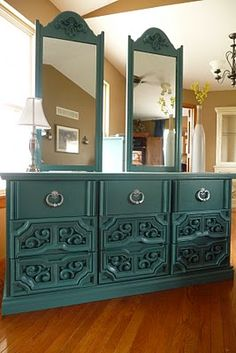 The Midwest Cottage: GLAM-RETRO FURNITURE PROJECT