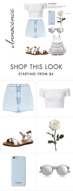 """Innocence"" by lilsoutfits ❤ liked on Polyvore featuring River Island, Lipstik, Isaac Mizrahi and Maison Margiela"