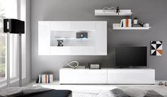 Lowboards mit Glasablagen, Schubladen, Beleuchtung und unterschiedelichen Farbkombinationen bei vladon.de