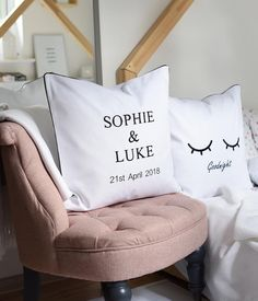 Personalised cushion cover,personalised gift,personalised wedding gift,wedding gift,cushion cover,monochrome cushion,embroidered cushion Typography Cushions, Personalised Cushions, Embroidered Cushions, Personalized Wedding Gifts, Gift Wedding, Monochrome, Bed Pillows, Pillow Cases, Trending Outfits