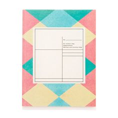 Madewell O-Check for Top Hat Medium Pattern Notebook